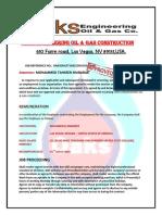 Oaks Engineering Contract of Agreement