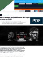 Análisis de Apuestas Del Mayweather vs. McGregor _ Cuotas Del Mayweather vs. McGregor