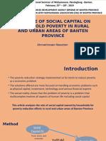 Social Capital and Poverty Banten 1