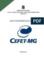 Lista Telefônica CEFET-MG Junho de 2017