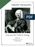 Telemann Viola Concerto Full Score