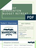 Town of Warrenton Budget Retreat 030119