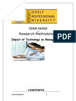 Term Paper of Research Methodology