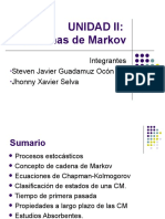 Unidad II Cadenas de Markov