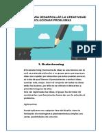 TECNICAS PARA DESARROLLAR LA CREATIVIDAD O SOLUCIONAR PROBLEMAS.docx