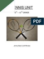 Tennis-6th – 12th Grade