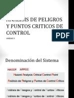 Analisis de Peligros y Puntos Criticos de Control
