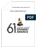 61st annual Grammy nominees