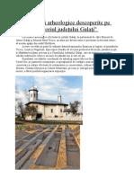 Mărturii arheologice descoperite pe teritoriul judeţului Galaţi