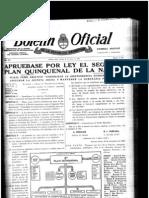 Segundo Plan Quinquenal de Perón. Ley 14.184.