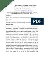 Uso de Pseudomonas Para Biorremediacion de Suelos Contaminados Por Hidrocarburos en La Refineria Talara