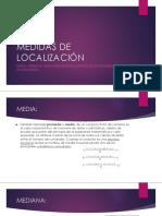 Medidas de Localización