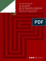 Muralt, André de. La apuesta de la filosofía medieval