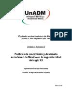Politicas de crecimiento y desarrollo en México