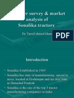 customer survey & market analysis of