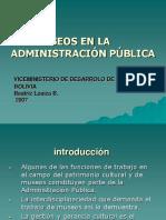 Los museos en la administración pública