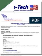 Ross-tech_ Vag-com_ Vw Mkiv Info