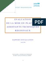 Evaluation de la Mise en Place des Assistants Techniques Regionaux (UNICEF, Août 2010)