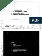 Progetto Formativo CCA Solidarietà