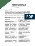 DETERMINACIÓN DE LA ESTEQUIOMETRÍA, Informe n° 2