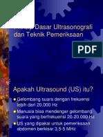 Prinsip Dasar Ultrasonografi
