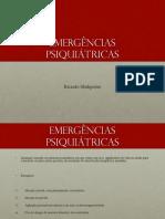 Aula 10 - Emergências psiquiátricas