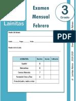 Febrero - 3er Grado - Examen Mensual (2018-2019) (1).docx