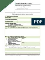 Student Development Program Project Proposal Template