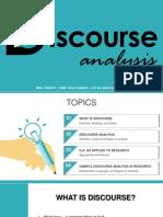 Ed703 Discourse Analysis