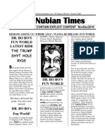 Nubian times newsletter Nov to Dec issue of 2018