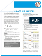 Calculate IRR in Excel