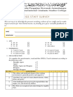 Kigs Staff Survey