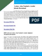 Letter by Letter Abu Taubah s Arabic Alphabet Workbook