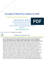 Foresight of Wind Power Industry by 2050 on 20151127