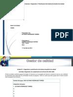 Taller Semana 1 Diagnóstico y Planificación Del Sistema de Gestión de Calidad Gestor de Calidad