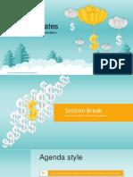 Balloon Dollar Management Concept PowerPoint Templates