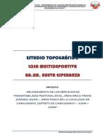 Informe Topografico Esperanza