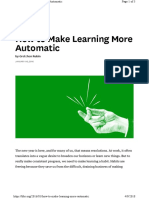 learning More Automatic