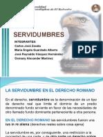 PRESENTACION DE SERVIDUMBRES