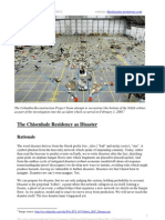 The Chisenhale Residency as Disaster