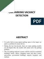 Car Parking Vacancy Detection