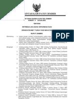 Peraturan Daerah Kupaten Jember Nomor .  9 Tahun 2003 Tentang Retribusi Ijin Usaha Kepariwisataan