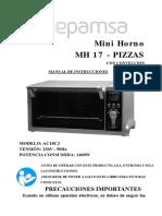 MANUAL DE USUARIO MINIHORNO MEPAMSA NH-17