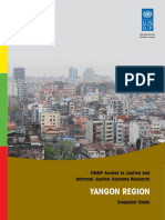 UNDP Myanmar - Access to Justice and Informal Justice Systems Research - Yangon Region