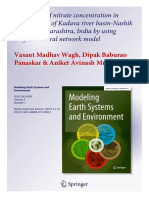 Estimation of nitrate concentration in groundwater of Kadava river basin-Nashik district, Maharashtra, India by using artificial neural network model.pdf