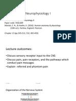 Neurophysiology I