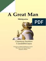 A Great Man Mahapurisa by Chanmyay Sayadaw