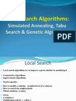 12 Local Search Algorithms - SA - TS - GA