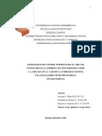 Trabajo de Aplicación. Estrategias de Control Interno Para El Área de Inventario en La Empresa Multinversiones Cofer