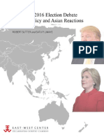 2016 US Election Debate Over America's Asia Policy